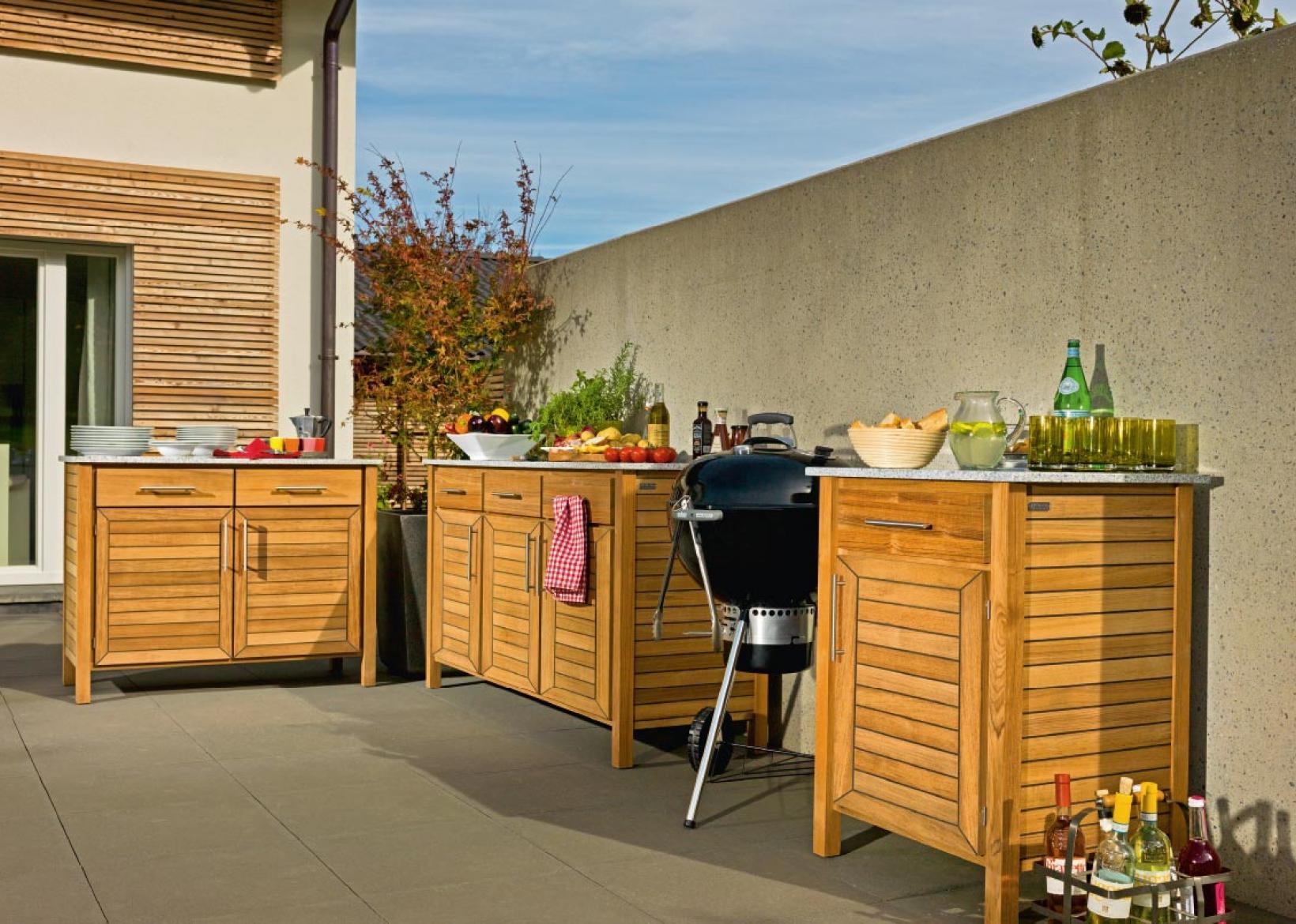 Gartenküchen Holz Vogel